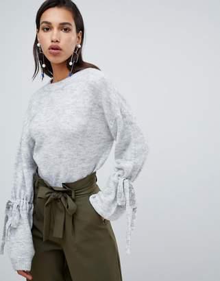 Vero Moda Tie Cuff Knitted Sweater