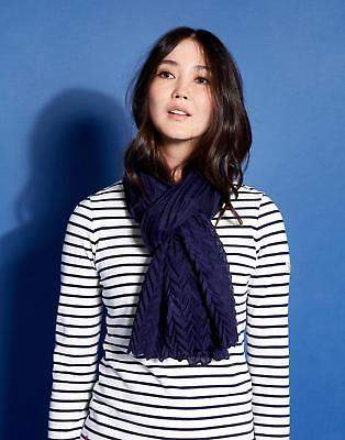 Joules Crinkle Scarf ONE in French Navy in One Size