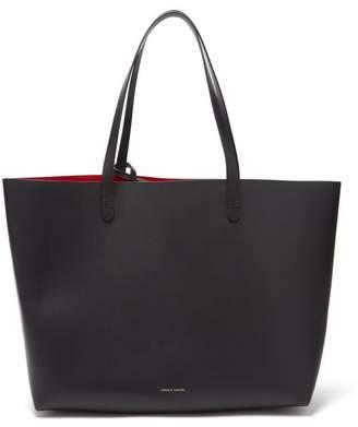 Mansur Gavriel Red Lined Large Leather Tote Bag - Womens - Black Multi