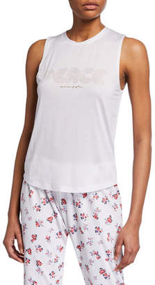 Spiritual Gangster Peace Active Muscle Tank