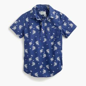 J.Crew Boys' popover shirt in tiny floral