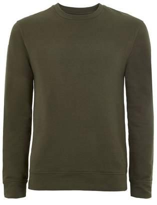 Topman Mens Khaki Ultra Muscle Fit Sweatshirt