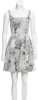 Christopher Kane Printed Sleeveless Dress