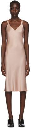 Helmut Lang Pink Double Strap Satin Slip Dress