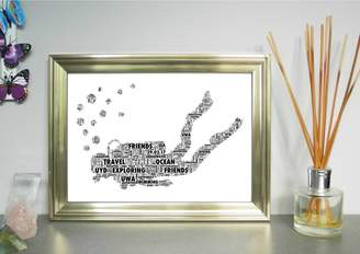 Unique Word Art Personalised Diver Word Art Print