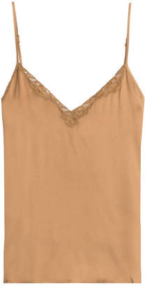 Mes Demoiselles Silk Camisole with Lace