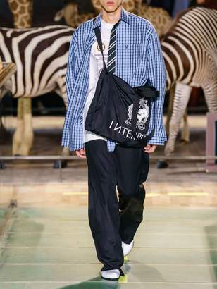 Vetements Check Cotton Shirt W/ Striped Tie