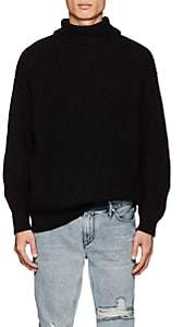 RtA Men's Chunky Rib-Knit Cotton Sweater - Black