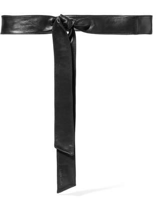 Miu Miu Leather Waist Belt - Black