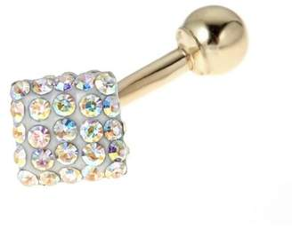 BODY EXPRESSIONS Body Expressions 10kt Yellow Gold Iridescent Square Belly Ring