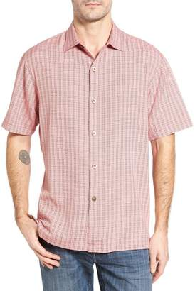 Tommy Bahama Geo Getaway Standard Fit Print Silk Camp Shirt