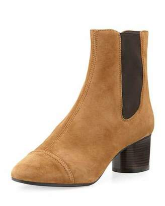 Isabel Marant Danae Suede 50mm Chelsea Boot, Brown $790 thestylecure.com