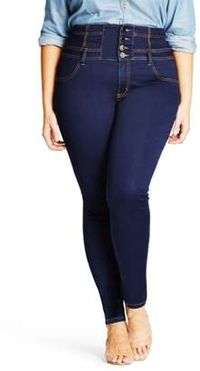 City Chic Harley Corset Waist Stretch Skinny Jeans