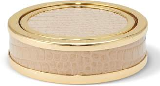 AERIN Colette Croc Leather Coasters (Set of 4)