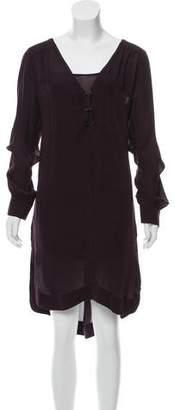 A.L.C. Silk Long Sleeve Midi Dress
