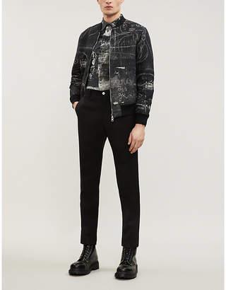 Alexander McQueen John Deakin-print padded twill bomber jacket