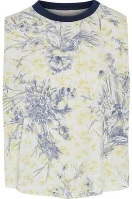 Cinq à Sept Ditsy Floral-Print Cotton-Jersey Top