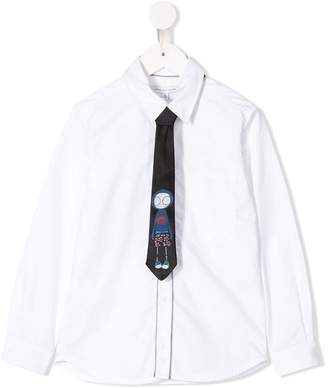 Little Marc Jacobs Mr Marc tie shirt