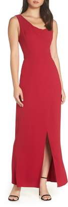 Harlyn Draped Neck Evening Dress