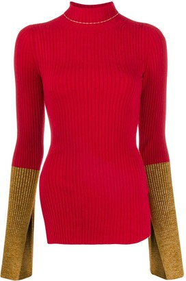 Moncler 1952 ribbed contrast cuff sweater