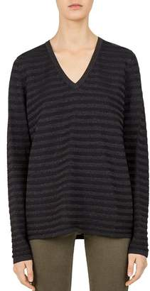 Gerard Darel Cherryl Metallic-Stripe Sweater