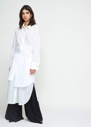 Ann Demeulemeester Cotton Side Tie Skirt