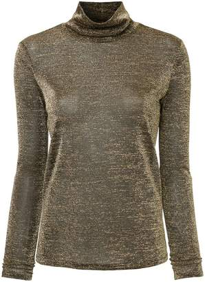 Rachel Zoe golden turtle neck top
