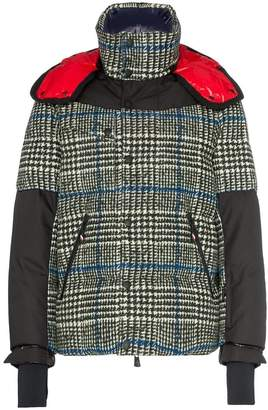 Moncler check padded feather down jacket
