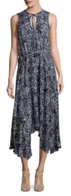 Parker Asymmetrical Hem Midi Dress