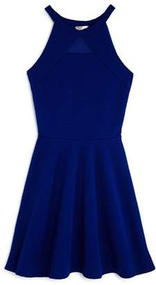Sally Miller Girls' Textured Knit Mesh-Cutout Dress, Big Kid - 100% Exclusive