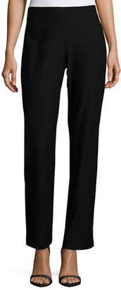 Eileen Fisher Washable-Crepe Boot-Cut Pants, Petite