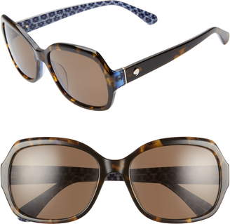 Kate Spade Amberlynn 57mm Sunglasses