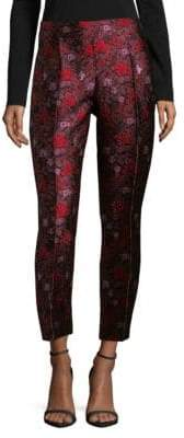Oscar de la Renta Poppy Jacquard Trousers