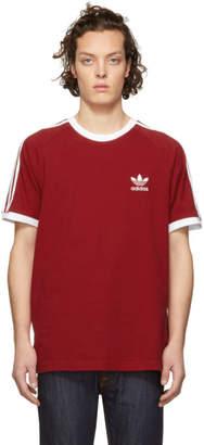 adidas Red 3-Stripes T-Shirt