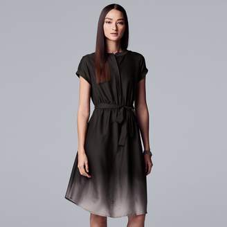 Vera Wang Women's Simply Vera Abstract High-Low Sheath Dress