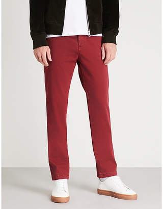 7 For All Mankind Slimmy regular slim-fit straight cotton-blend chinos