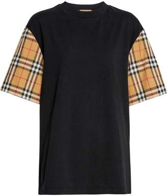 Burberry Vintage Check-sleeve Cotton Oversized T-shirt