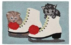 Liora Manné Frontporch Skates and Kittens Indoor and Outdoor Rug