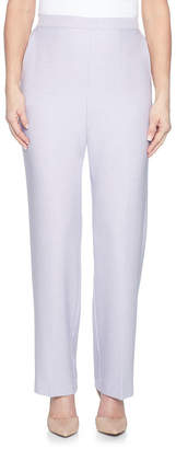 Alfred Dunner Roman Holiday Woven Flat Front Pants