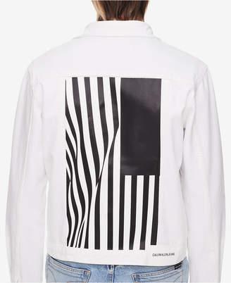 Calvin Klein Jeans Men's Foundation Graphic Trucker Jacket