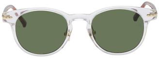 Linda Farrow Luxe Transparent and Tortoiseshell 25 C10 Sunglasses
