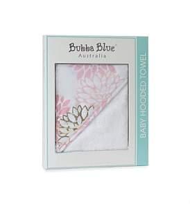 Bubba Blue Flamingo Velour Hooded Towel