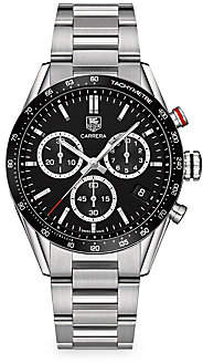 Tag Heuer Carrera 43MM Stainless Steel Panamerica Edition Quartz Chronograph Bracelet Watch