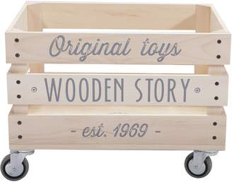 story. Wooden Promotions Wooden Storage Crate, Slatted