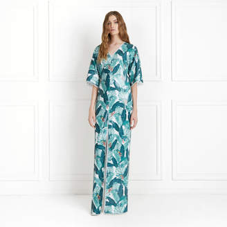 Rachel Zoe Autumn Palm Printed Sequin Caftan