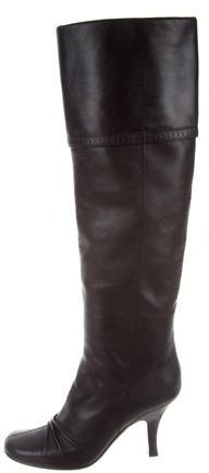 Louis Vuitton Leather Over-The-Knee Boots