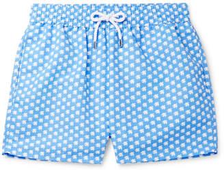 Frescobol Carioca + Sant Ambroeus Printed Mid-Length Swim Shorts