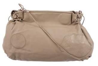 Carlos Falchi Grained Leather Crossbody Bag
