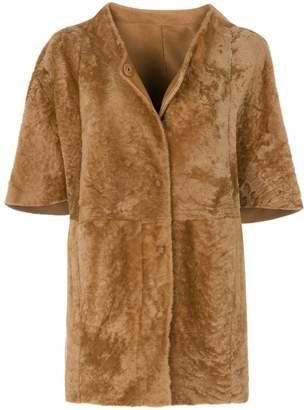 Drome short-sleeved button coat