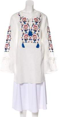 Tory Burch Linen Wildflower Embroidered Beach Tunic w/ Tags